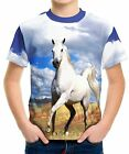 New Horse Boys Kid Youth T-Shirt Tee Age 3-13
