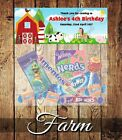 PERSONALISED BIRTHDAY LOLLY/LOOT BAG & TOPPER - FARM ANIMALS