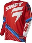 Shift Strike Stripes Mens Limited Edition MX/Offroad Jersey Red/White/Blue
