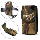 REIKO Camouflage Vertical Heavy Duty Canvas Belt Clip Case for Cell Phones