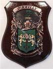 BUSH to CANNON Family Name Crest on HANDPAINTED PLAQUE - Coat of Arms