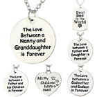 Family Words Fashion Charm Heart Pendant Necklace Forever Love Jewellery Gifts
