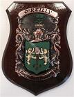 HOUGH to HUTCHINSON Family Name Crest on HANDPAINTED PLAQUE - Coat of Arms