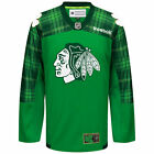 Chicago Blackhawks Reebok Green St Patricks Day Replica Jersey NHL Official