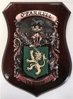 Rafter to Reed Family Handpainted Coat of Arms Crest PLAQUE Shield