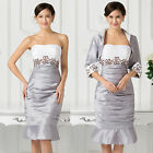 Free jacket mother of the bride/groom dress formal occasion outfit/suit plus 24w