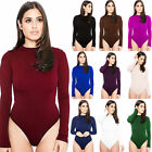 Fashion Womens Jumpsuit Long Sleeve Stretch Leotard Bodysuit T Shirt Top Blouse
