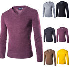 Men's Autumn Winter Long Sleeve New Fashion Casual V-Neck T-Shirt Top Blouse