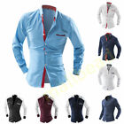 Stylish Mens Slim Fit Long Sleeve Casual Shirts Business Shirts Tops Collection