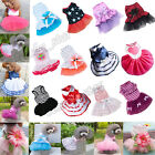 Clothing Shoes - Dog Cat Bow Tutu Dress Lace Skirt Pet Puppy Dog Princess Costume Apparel Clothes