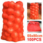 NEW 100 NET SACKS VEGETABLES MESH BAGS LOGS KINDLING WOOD CARROT ONIONS POTATO