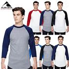 NEW Augusta Sportswear Men's 3/4 Sleeve Baseball Jersey S-XL T-Shirt R-420