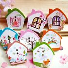 10/50/80 Mixed Colored Flower House Wood Wooden Button Sewing Scrapbook DIY H