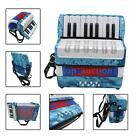 Mini Small 17-Key 8 Bass Accordion Educational Musical Instrument Toy M1S7