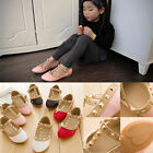 Cute Princess Girls Kids Baby Sandals Rivet Buckle T-strap Flat Shoes 4 Colors