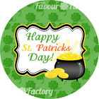 1x sheet Personalised ST. PATRICKS DAY party bags sweet cones pot gold STICKERS