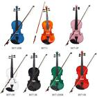 Full Size 4/4 Acoustic Violin Fiddle w/Case Bow Rosin for Age Above 13 UK N4O2