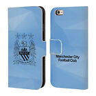 MANCHESTER CITY MAN CITY FC GEOMETRIC LEATHER BOOK CASE FOR APPLE iPHONE PHONES