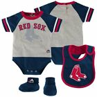 Infant Boston Red Sox Creeper Set 'Lil Player Bodysuit Bib Booties MLB Baby