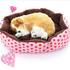 Cute Pet Dog Puppy Cat Soft Flannel Warm Bed House Plush Cozy Nest Mat Pad Gift