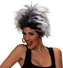 Ladies Punk Rocker Urban Wig Diva 80s 90s Glam Rock Chick Tina Turner Fancy Dres