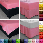 Cotton Blend Ftted, Valance, Base Valance, Flat Bed Sheet Pillow Cases Non Iron