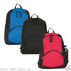 Unisex Retro Backpack Rucksack School College Travel Laptop Work Bag Black Blue