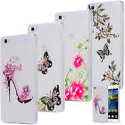 SLIM TPU CASE STRASS SCINTILLANTS COQUE HOUSSE COVER MOTIF TRANSPARENTE HUAWEI