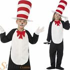 Child Cat In The Hat Costume Book Week Fancy Dress Boys Girls Kids Outfit