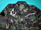 Motorhead Ace Of Spades Camouflage Woodland Army Jacket War-Pig Road Crew Metal