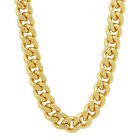 14K GOLD Thick Stainless Steel Curb Chain Cuban Link 11mm Hip Hop Gangster Chain