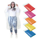 5 X Emergency Waterproof Rain Poncho's with hoods - 6 great colour variations