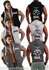 Mens Bodybuilding Gym Workout Weight Lifting HARDCORE Hooded Sleeveless Top