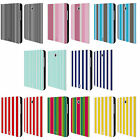 HEAD CASE DESIGNS VERTICAL STRIPES LEATHER BOOK CASE FOR SAMSUNG GALAXY TABLETS