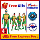 4 Pack Teenage Mutant Ninja Turtles TMNT Mens Superhero Adult Halloween Costume
