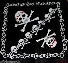 Chain & Skulls Crossbones Bandana Headwear Band Neck Scarf Wrist Wrap Headtie B4