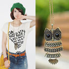 Owl Women Fashion Bronze Vintage Style Long Chain Necklace Pendant Jewelry