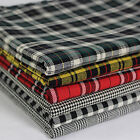 SB Plaid Yarn Dyed Tartan Glen Houndstooth Check 100% Cotton Cream/Black Fabric