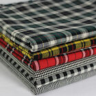 SB Plaid Yarn Dyed Tartan Glen Houndstooth Check 100% Cotton Fabric per metre