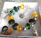 MLB OAKLAND ATHLETICS A's Crystal Team Charm Bracelet   FREE SHIPPING!!! on Ebay