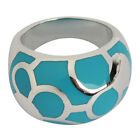 Stylish Blue Circle Pattern Ring Women Jewelry #US