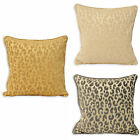 Paoletti Mahiki Luxury Leopard Animal Print Piped 45x45cm Cushion Cover