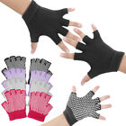 Fitness Yoga Pilates Fingerless Anti-Slip Grip Glove Gym Sport Hand Palm Support