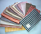"Sferra PICCADILLY Dinner Napkins SET/4 Gingham Check Linen 20"" New-Select Color!"