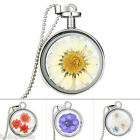 HP New Fashion DIY Silver Plated Dried Daisy Flower Pendant Necklace For Women