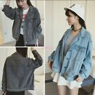 Hot Korean Women Loose Oversize Denim Jeans Jacket Boyfriend Style Coat S-03