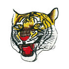 Tiger Head Yellow Embroidered Applique Iron Patches On Sew On Patch 70*80mm