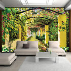 Photo Wallpaper GARDEN PERGOLA ARCH CANOPY FLOWERS NATURE Wall Mural (136VE)