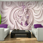 Photo Wallpaper 3D LOW RELIEF MEDUSA IN PURPLE Wall Mural (3044VE)
