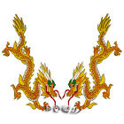 Golden Dragon Embroidered Patch Badges Sew on Iron on Patches Applique 15*34 cm